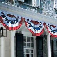 BUNTING UNDER EAVES